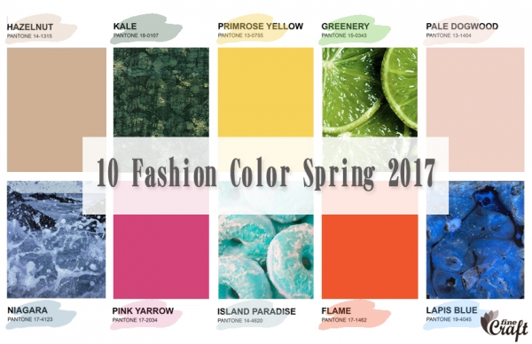 Цвета сезона весна /лето 2017 — Pantone fashion color report spring